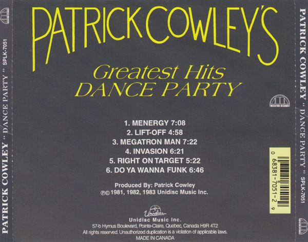 P.COWLEY'S GREATEST HITS DANCE PARTY